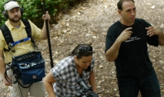 Directing a scene for a Treehouse production