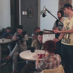 Shooting on set