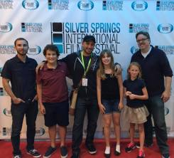 Thomas Dunn, Evan Huit, Fred Zara, Mackenzie Zara, Karma Clark and Dan Gorgone at the Silver Springs International Film Festival