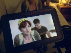 Jamie-Lyn Markos and Timothy Neil Williams on the set of Read Me